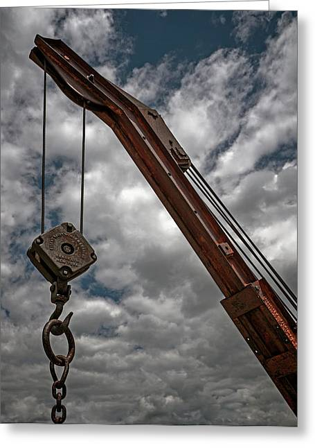 Crane And Chain Greeting Card