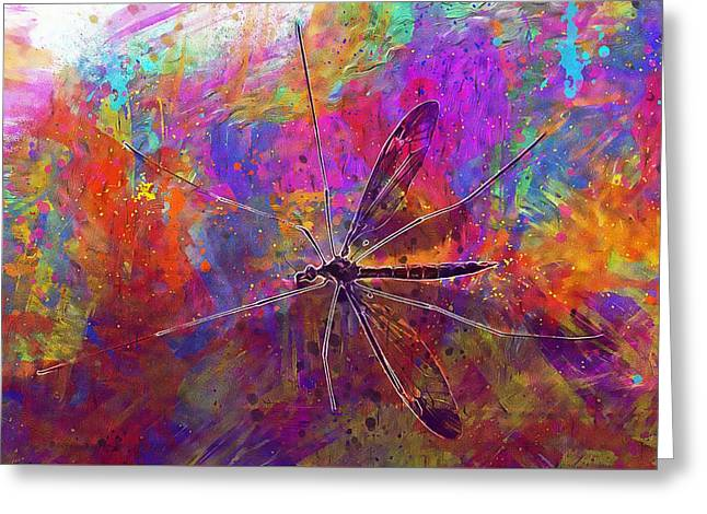 Crane Fly Mosquito Eater Insect  Greeting Card