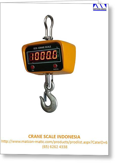 Crane Scale Indonesia Greeting Card by Matcon Matic