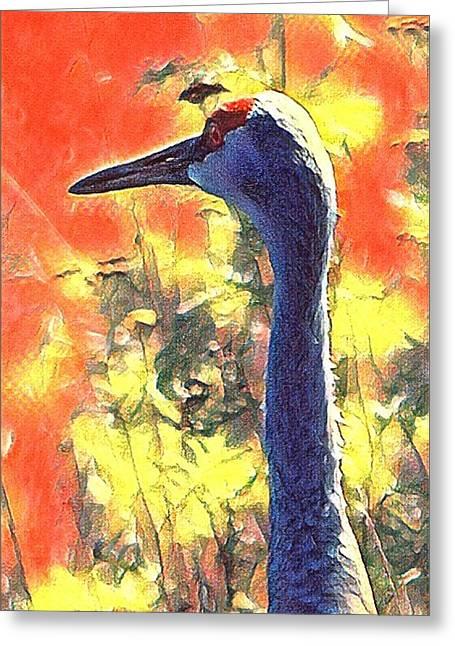 Crane View Greeting Card