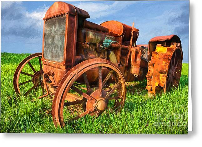 Crank And Plow II Greeting Card