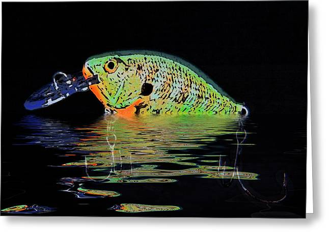 Crank Bait I Greeting Card by Tom Mc Nemar