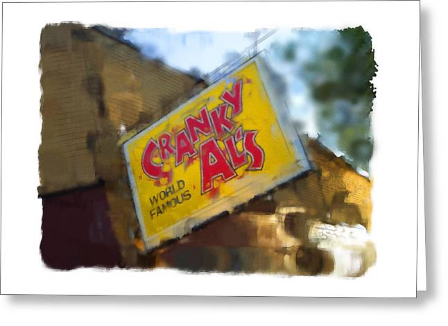 Bakeries Digital Greeting Cards - Cranky Als Greeting Card by Geoff Strehlow