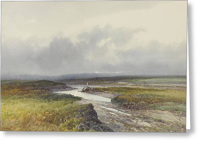 Cranmere Pool, Dartmoor Greeting Card by Frederick John Widgery
