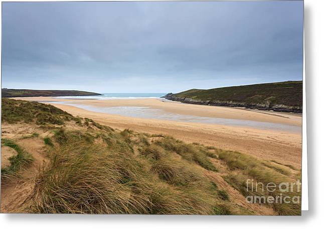 Crantock Beach In Cornwall England Greeting Card by Richard Thomas