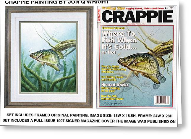 Crappie And Minnows Greeting Card by Jon Q Wright