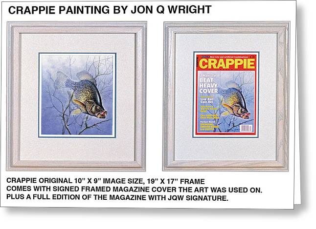 Crappie Magazine And Original Greeting Card by Jon Q Wright
