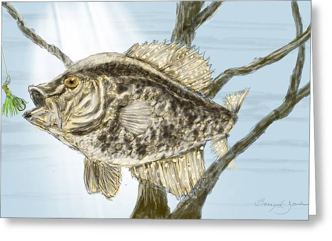 Crappie Time - 2 Greeting Card