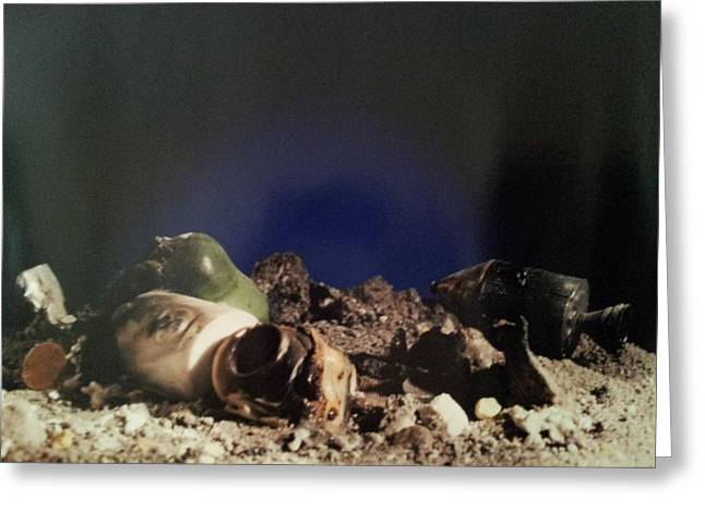 Crash In Space Greeting Card
