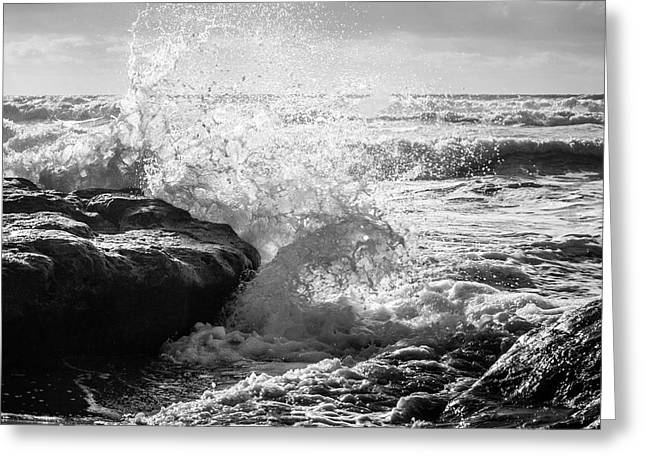 Wave Crashing  Greeting Card