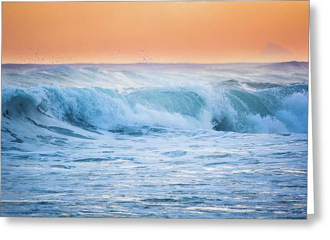 Crashing At Sunset Greeting Card by Parker Cunningham