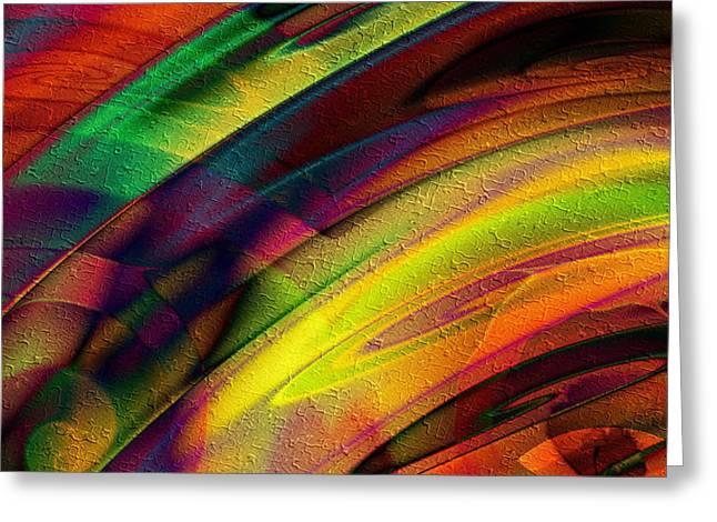 Greeting Card featuring the digital art Crashing Colors by Kiki Art
