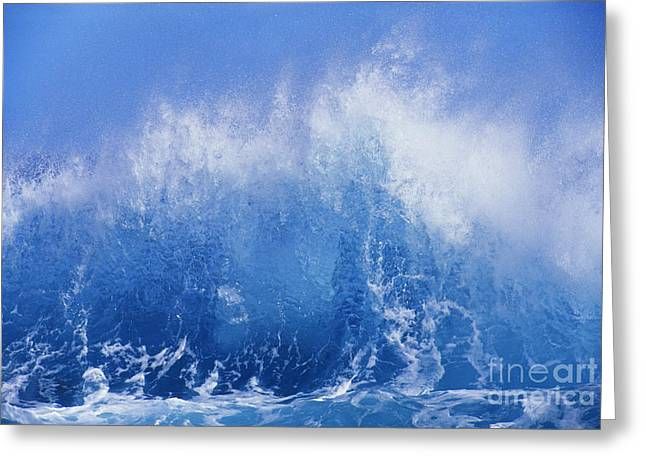 Crashing On Shore Greeting Card by Vince Cavataio - Printscapes