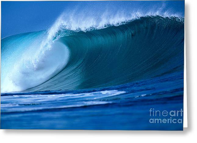 Crashing Wave Greeting Card by Vince Cavataio - Printscapes