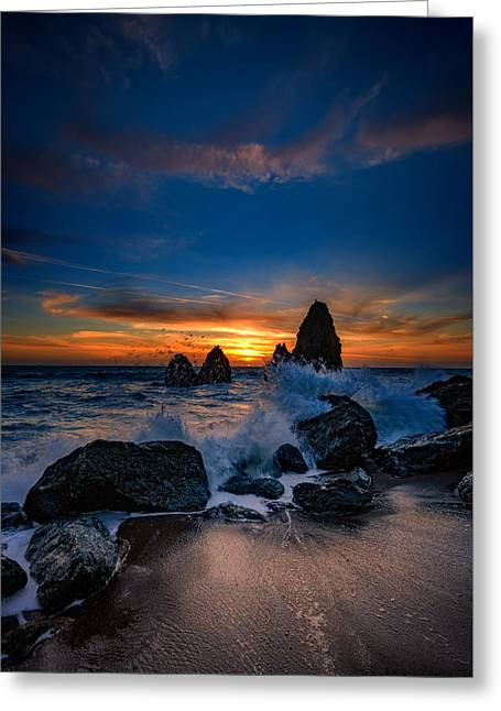Crashing Waves At Rodeo Beach Greeting Card