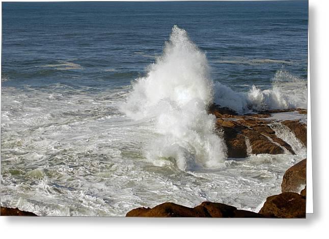 Crashing Waves Greeting Card by Curtis Gibson