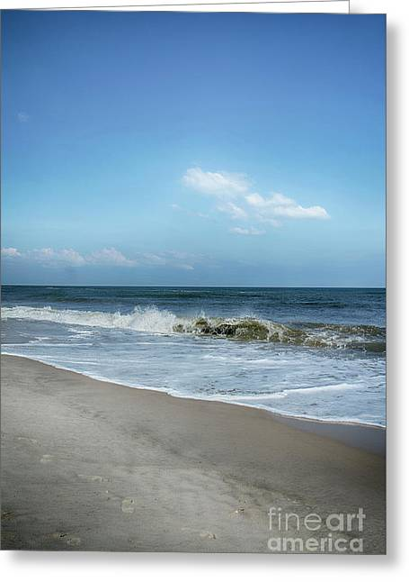 Crashing Waves Greeting Card by Judy Hall-Folde