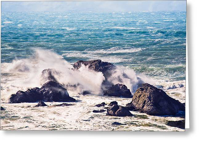 Greeting Card featuring the photograph Crashing Waves by Kim Wilson