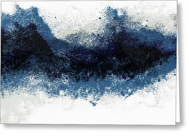 Crashing Waves- Minimal Art By Linda Woods Greeting Card