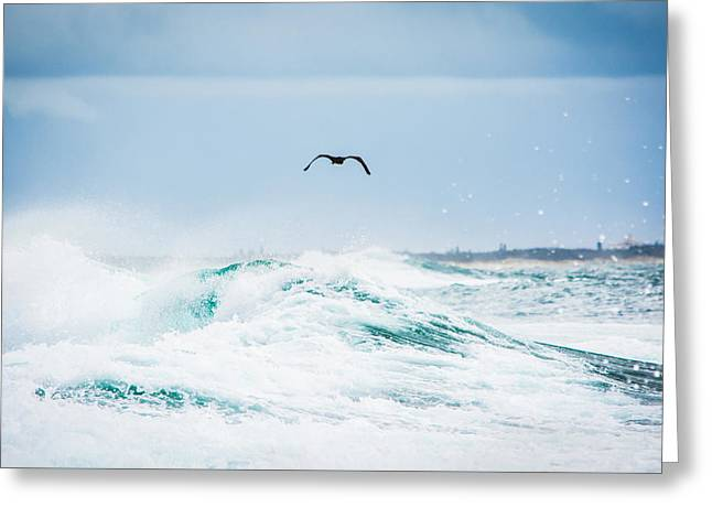 Crashing Waves Greeting Card by Parker Cunningham