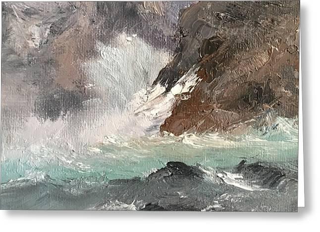 Crashing Waves Seascape Art Greeting Card