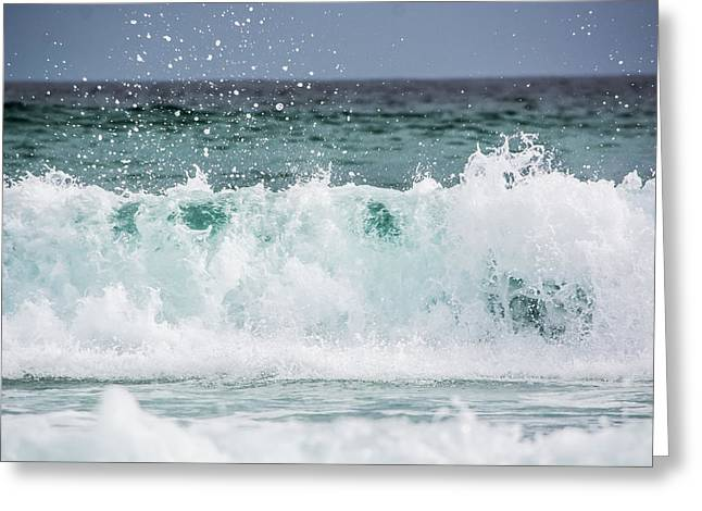 Crashing Waves Greeting Card by Shelby  Young