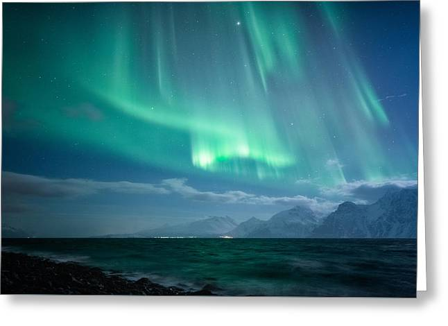 Crashing Waves Greeting Card by Tor-Ivar Naess