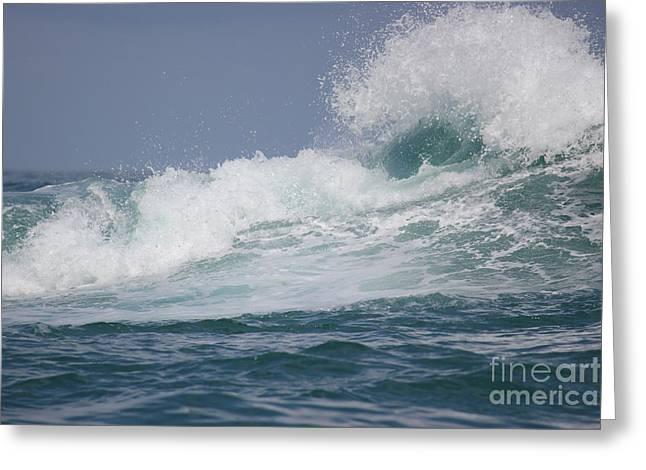 Crashing Waves Greeting Card by Wilko Van de Kamp