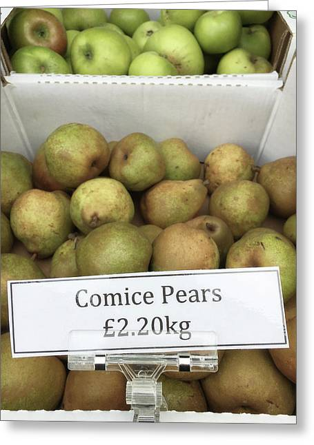 Crate Of Pears Greeting Card