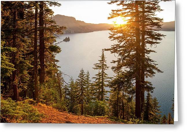 Crater Lake Greeting Card by Brian Harig