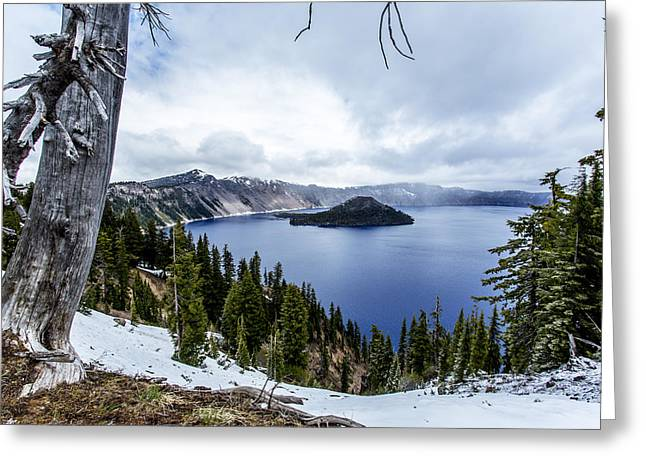 Crater Lake In Spring Greeting Card by Michael Parks
