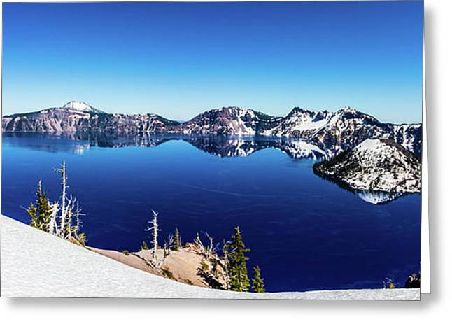 Greeting Card featuring the photograph Crater Lake by Jonny D