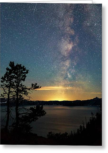 Crater Lake Milky Way Greeting Card