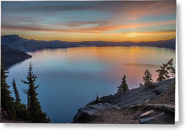 Crater Lake Morning No. 1 Greeting Card