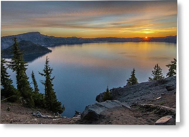 Crater Lake Morning No. 2 Greeting Card