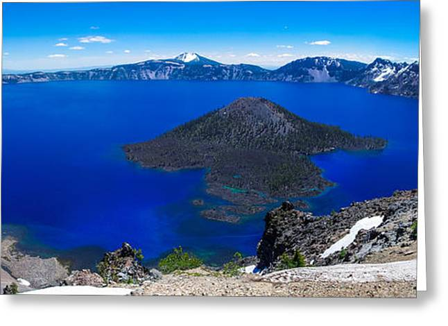 Crater Lake National Park Panoramic Greeting Card
