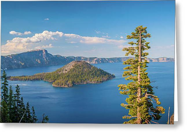 Crater Lake Panorama Greeting Card