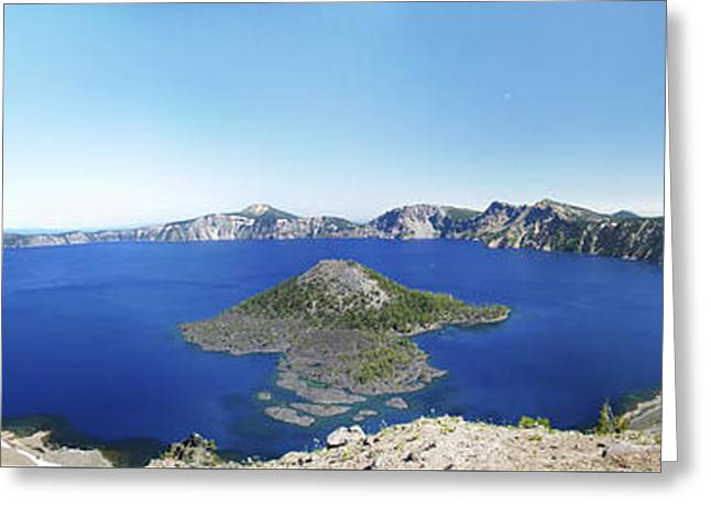 Crater Lake Panoramic Greeting Card