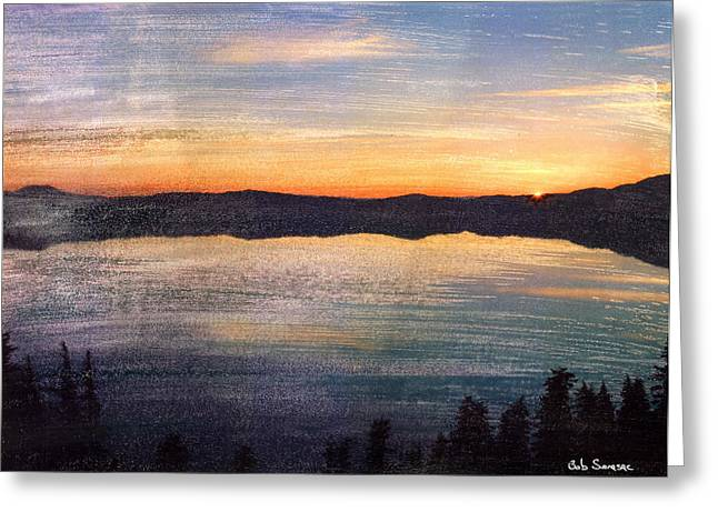 Crater Lake Sunrise Greeting Card