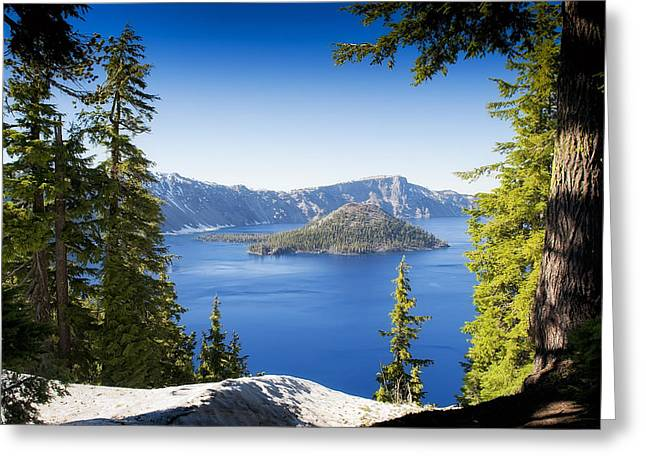 Craters Greeting Cards - Crater Lake Greeting Card by Wade Aiken