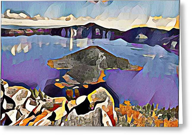 Crater Lake Yellowstone Greeting Card by Roger Smith
