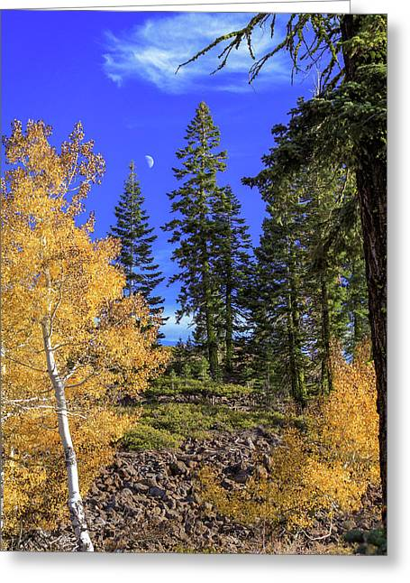 Ledge Photographs Greeting Cards - Crater Moon Greeting Card by James Eddy