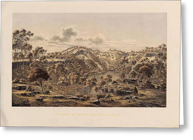 Crater Of Mount Eccles Greeting Card by Celestial Images