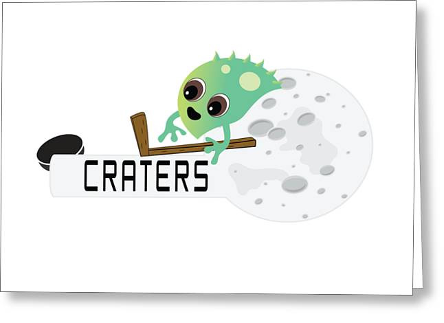 Craters Logo Greeting Card by Moon Toons