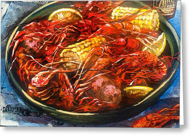 Crawfish Eatin' Time Greeting Card