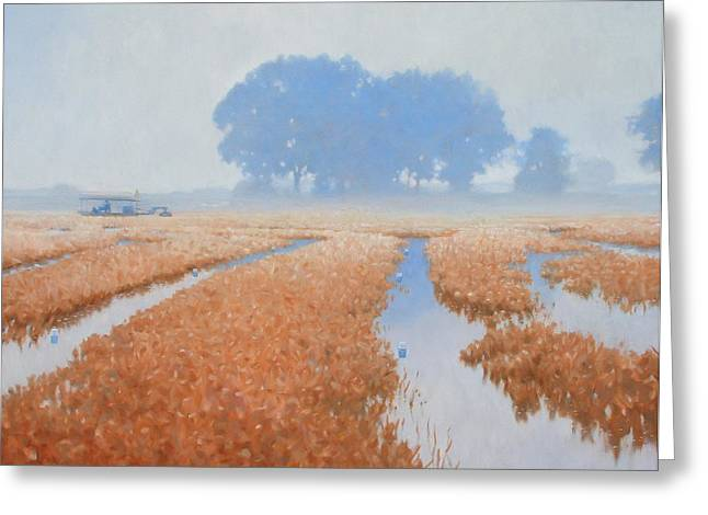 Crawfish In The Mist Greeting Card by Kevin Lawrence Leveque