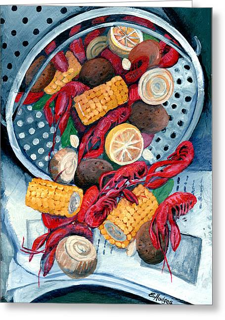 Crawfish Pot Greeting Card