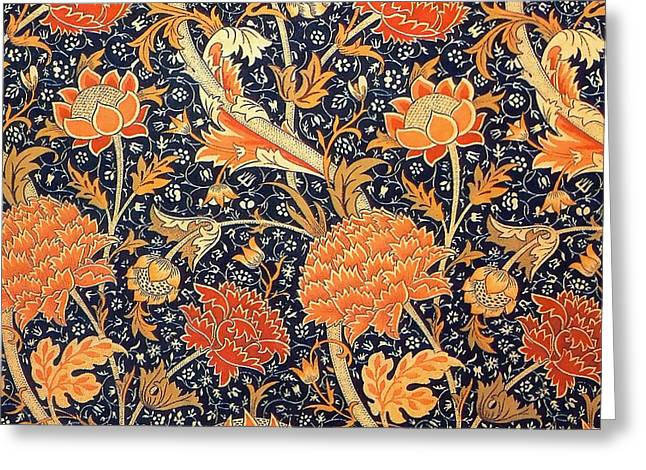 Cray Pattern Greeting Card by William Morris