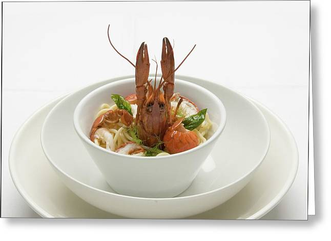 Crayfish With Noodles Greeting Card