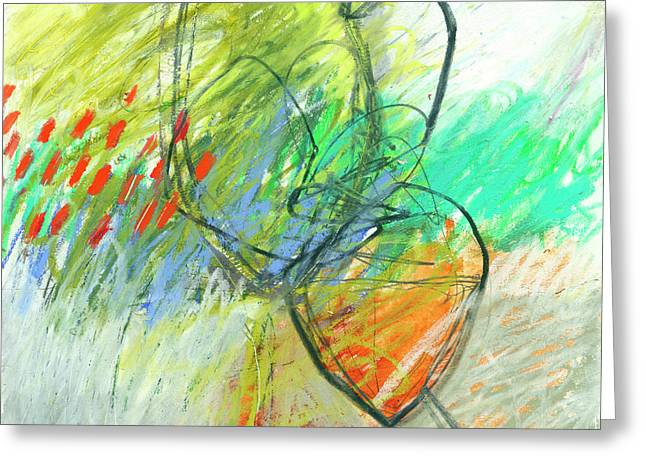 Crayon Scribble #1 Greeting Card by Jane Davies